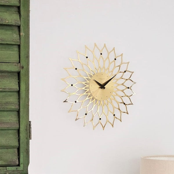 Burst Wall Clock - Gold