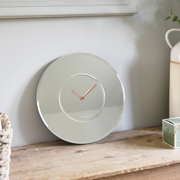 William Mirrored Wall Clock