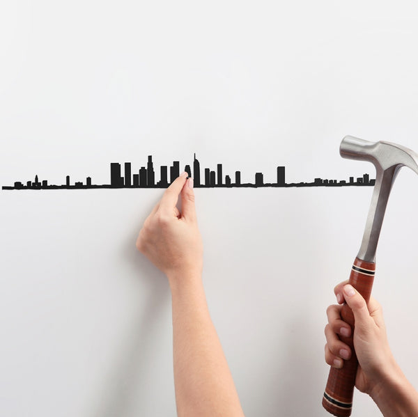 Metal Skyline Wall Decor - Los Angeles