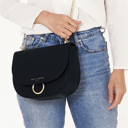 Lucia Saddle Bag - Black
