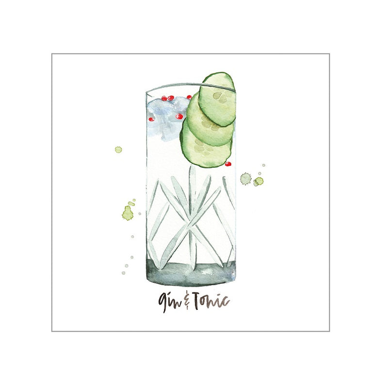 Maison Lorrain Coasters, Set of 4 - Gin & Tonic