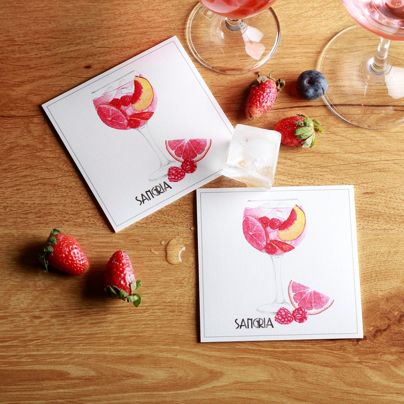 Maison Lorrain Coasters, Set of 4 - Sangria