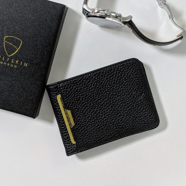 Manhattan Bifold Wallet - Grained Black RFID
