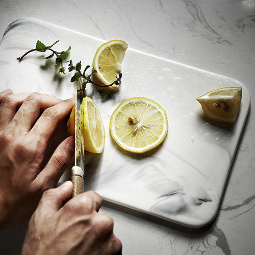 Ceramic Chopping Board - White Swirl