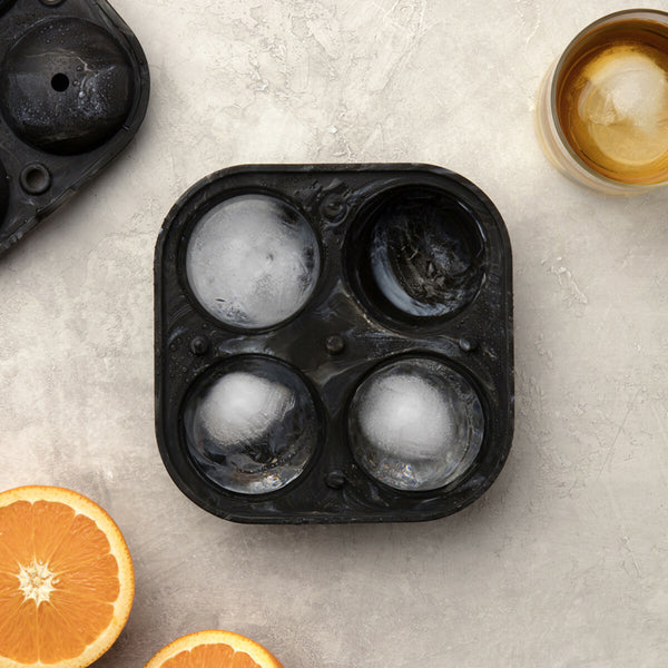 Peak Sphere Ice Tray - Black Marble