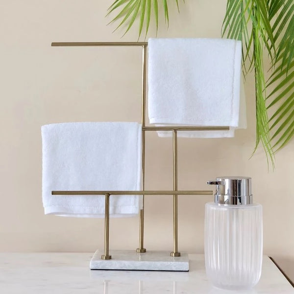 Melrose Napkin Holder - White Gold