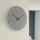 Numbers Glass Clock - Grey