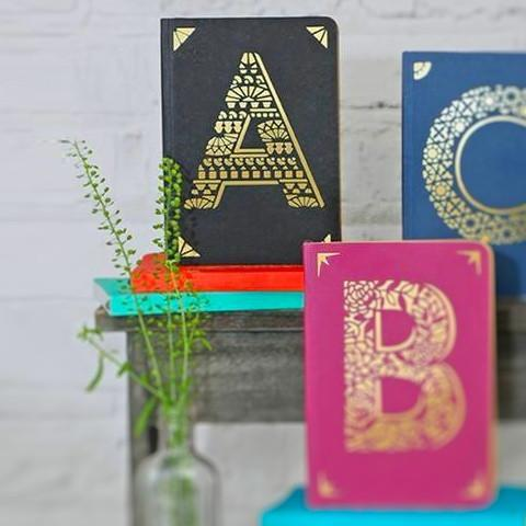 Mini Monogram Notebook - A