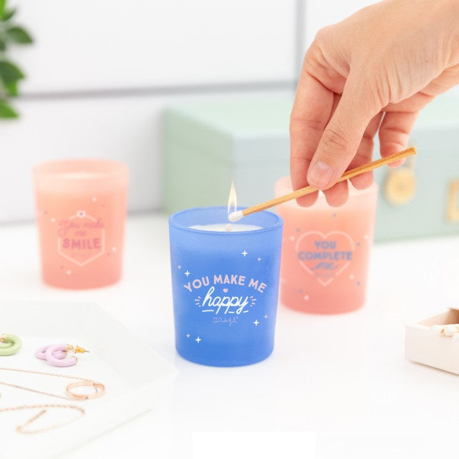 Set of 3 Scented Candles - Spark