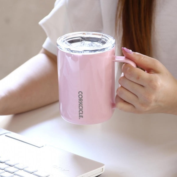 Insulated Coffee Mug - Gloss Rose Quartz