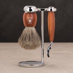 Vivo Mach3 Shave Set - Plum Wood