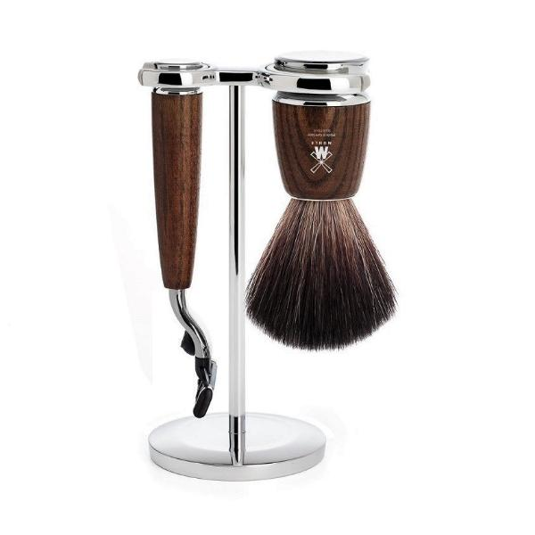 Rytmo Mach3 Shave Set - Ash Wood