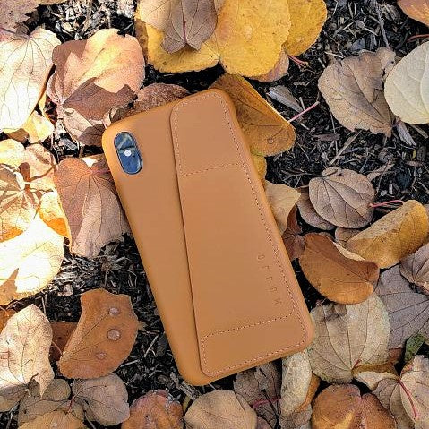 sneakers for cheap d6649 29092 Full Leather Wallet Case for iPhone XS Max - Tan