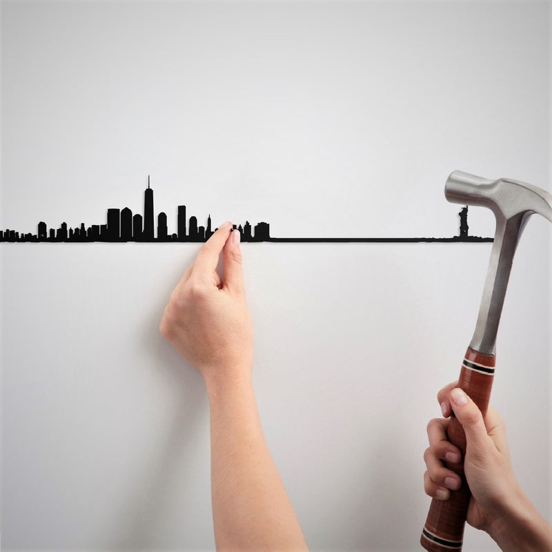 Metal Skyline Wall Decor - New York