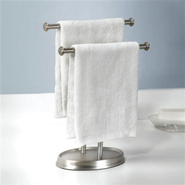 Palm Double Towel Tree, Nickel