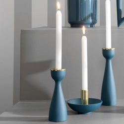 Slim Nimble Candle Holder - Blue