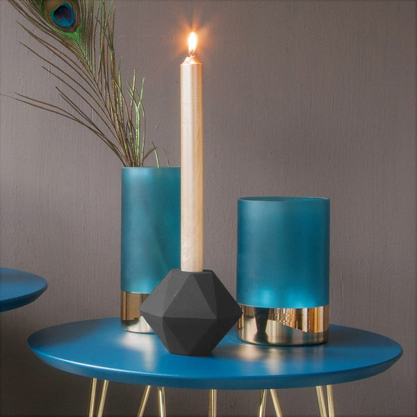 Hexagon Nimble Candle Holder - Black