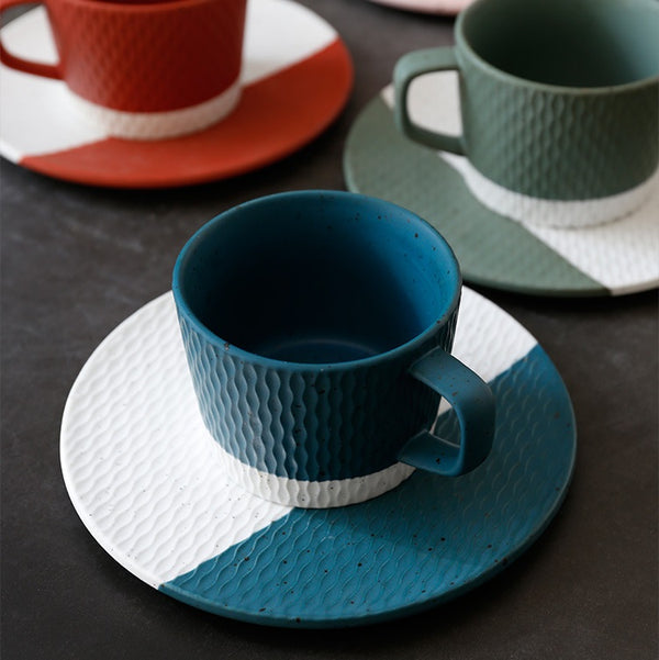 Nook Cup with Saucer - Azure Blue