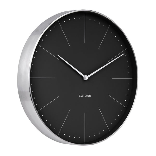 Normann Wall Clock Large - Black