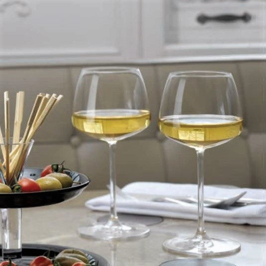 Mirage White Wine Glasses, Set of 2
