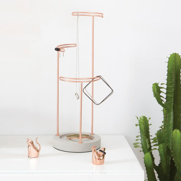 Tesora Jewellery Stand, Concrete Copper