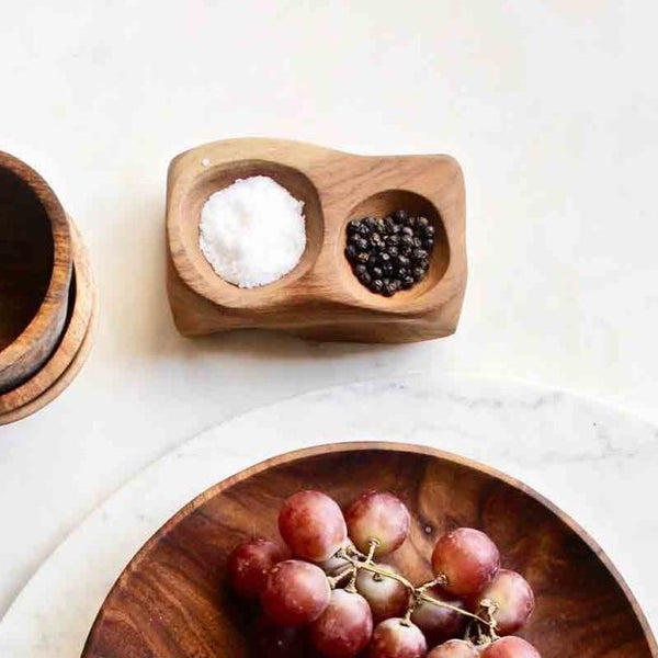 Organic Salt and Pepper Cellar