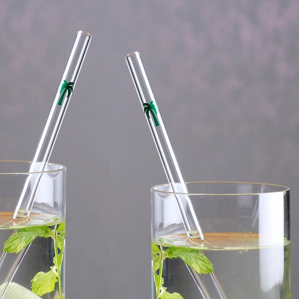 Barbaydos Glass Straws, Set of 4 - Palm