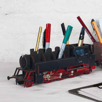 Pen Holder - Black Train