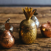 Pineapple Tropical Scented Candle - Brass