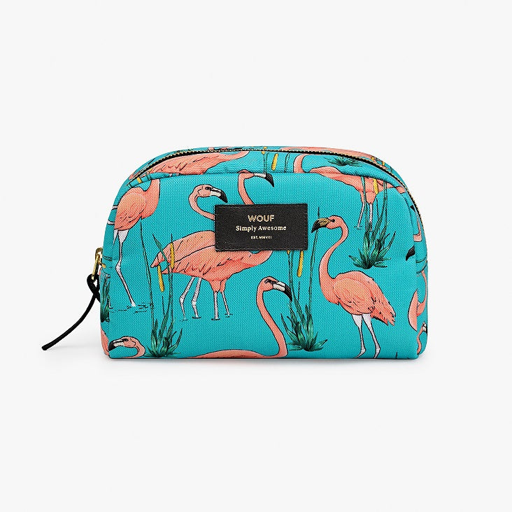 Pink Flamingo Large Beauty Bag