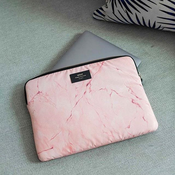 Pink Marble Laptop Sleeve 13inch