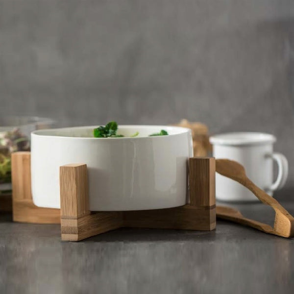 Everyday Porcelain Salad Bowl Set