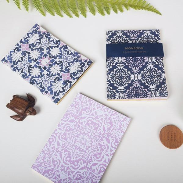 Collection of 3 Notebooks - Monsoon Edition