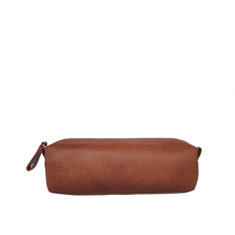Leather Pencil Pouch - Tan
