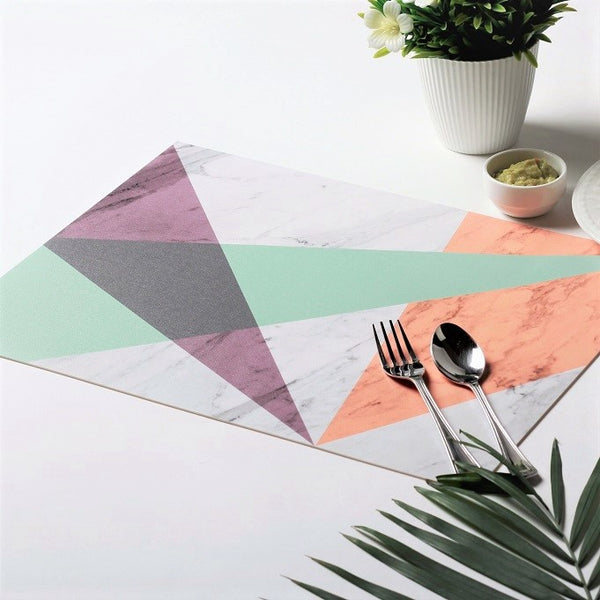 Prism Rectangular Placemats, Set of 2 - Green Yellow