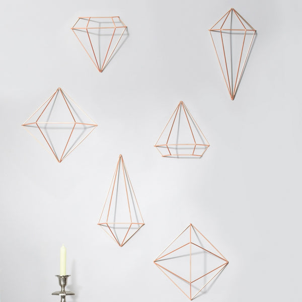Prisma Wall Decor, Set of 6 - Copper