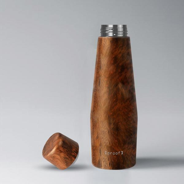 Double Wall Insulated Bottle - Pluto Wood