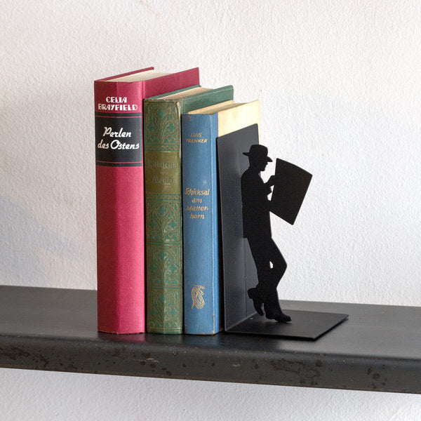 Metallic Bookend - The Reader