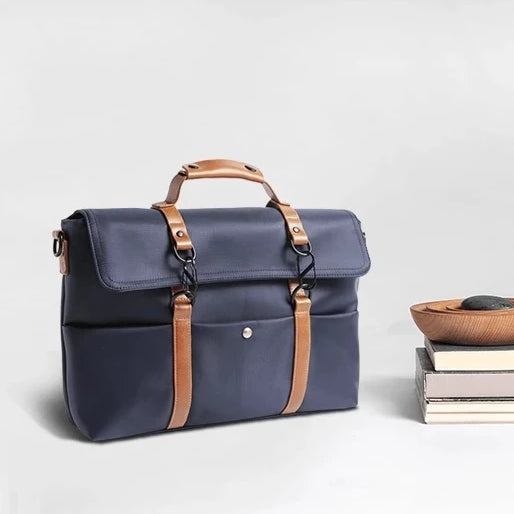 Retro Laptop Bag - Navy Blue - 15.6 inch
