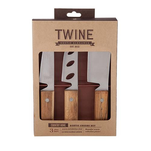 Twine Rustic Cheese Knives, Set of 3