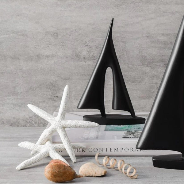 Decorative Sailboat Sculpture - Small