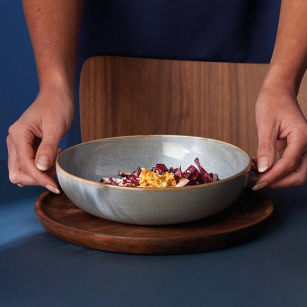 Seasons Pasta Plate - Denim