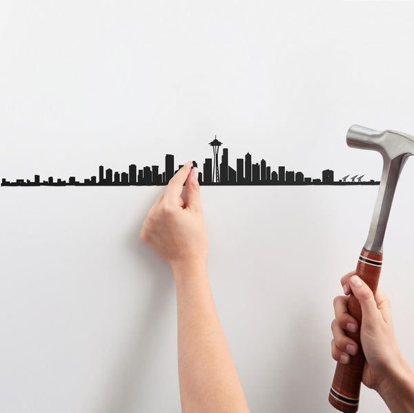 Metal Skyline Wall Decor - Seattle