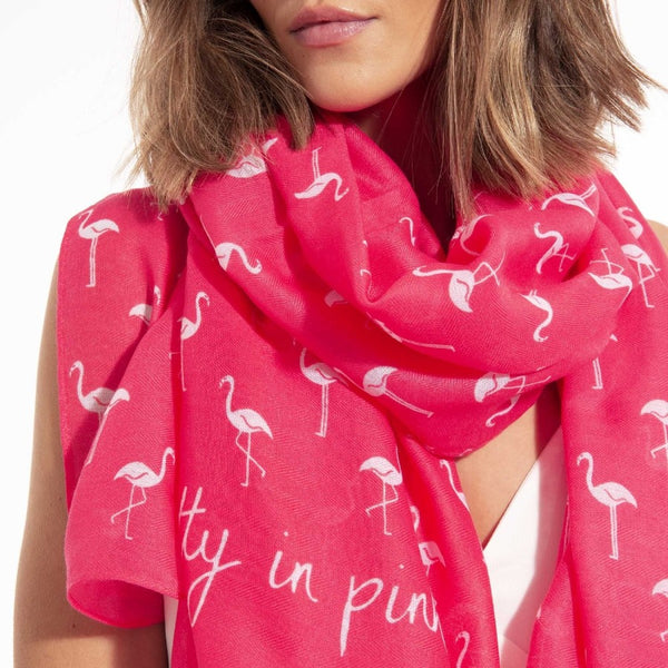 Sentiment Scarf - Pretty in Pink