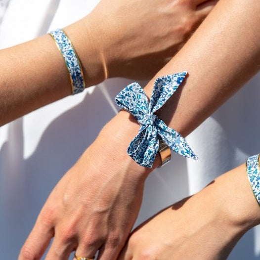 Blue Liberty Bow Bracelet - Gold