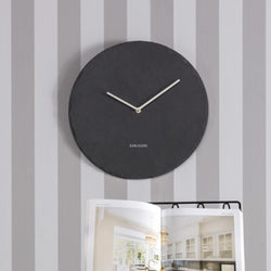 Ridge Slate Wall Clock - Black