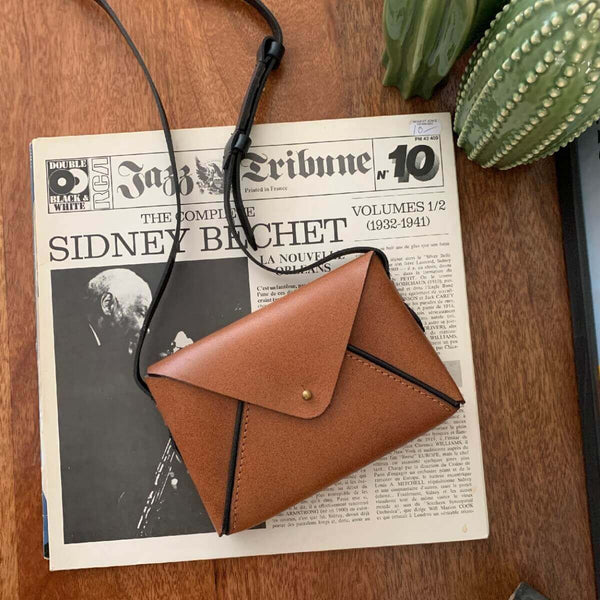 Envelope Sling Bag - Tan