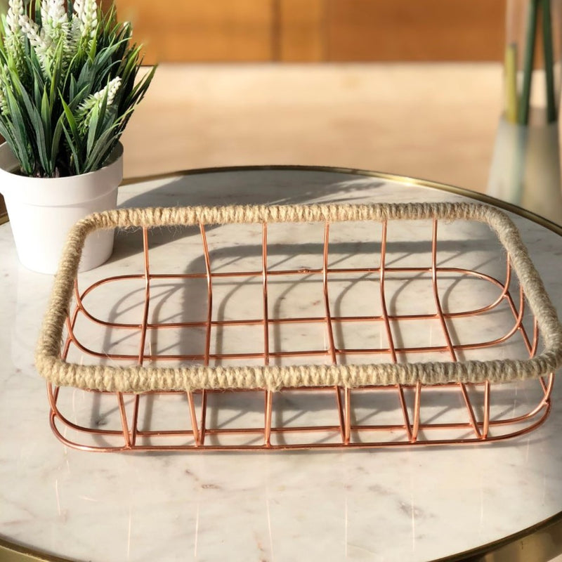 Sochi Storage Basket - Rose Gold