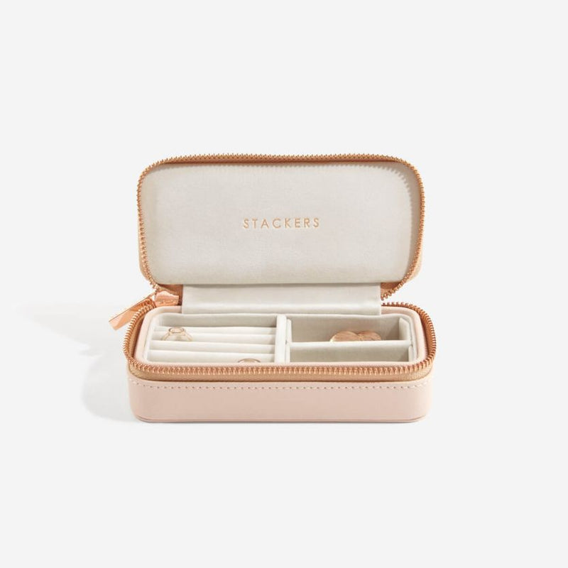 Travel Jewellery Pouch Medium - Blush Pink