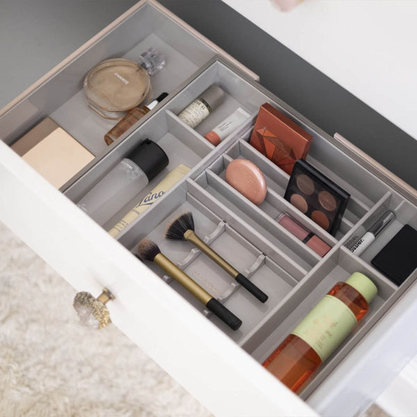 Expandable In-Drawer Makeup Organiser - Blush Pink
